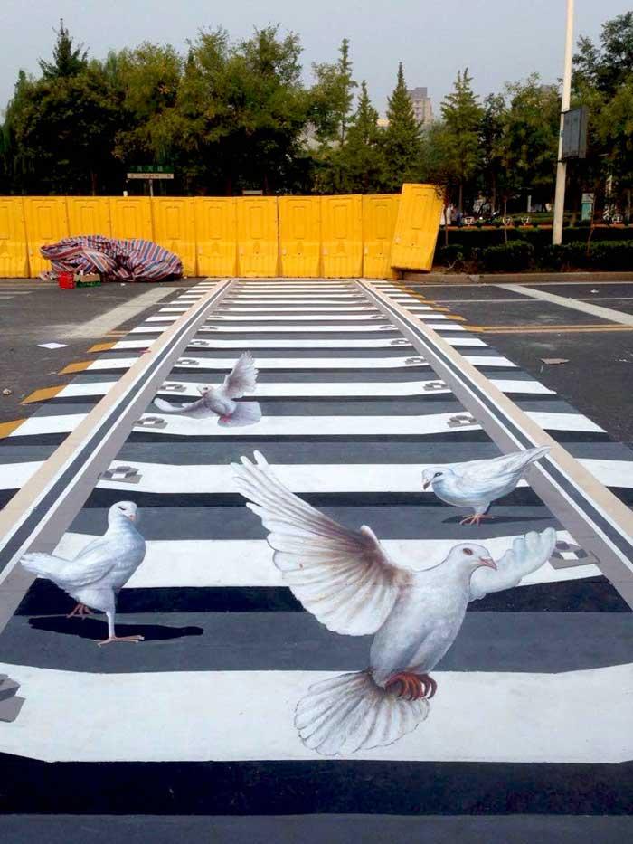 宿迁3d斑马线_上海墙绘,上海手绘墙,上海壁画(彩绘,墙