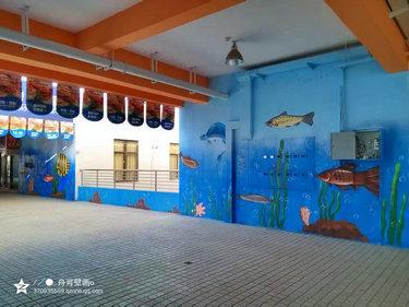 天鹏海鲜城_上海墙绘,上海手绘墙,上海壁画(彩绘,个性
